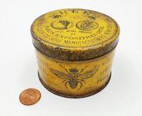 1870s Ansonia Clock Co Bee Lubricant Advertising Tin Paris Expo 1878 Brooklyn NY