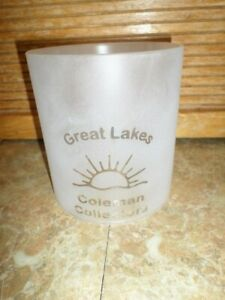 VTG GREAT LAKES COLEMAN COLLECTORS Frosted Glass Globe 220 228 235 290 Lantern