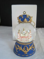 Taj Mahal India Snow Globe Ornament Boxed Snowdome