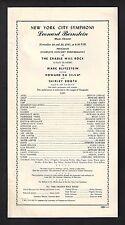 "Leonard Bernstein ""CRADLE WILL ROCK"" Howard Da Silva / Shirley Booth '47 Program"
