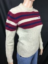 vintage IZOD LACOSTE 100% VIRGIN WOOL crew neck pullover sweater women's XS