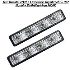 TOP Qualität 4*1W 8 LED CREE Tagfahrlicht + R87 Modul + E4-Prüfzeichen 7000K (81