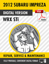 2012 Subaru Impreza WRX STi Factory Repair Service Manual