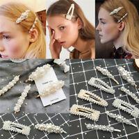 Pince À Cheveux Perle Barrette Bâton épingle Femme Accessoires pour Cheveu FP