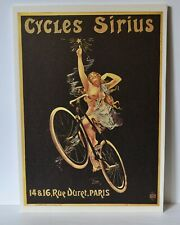 CYCLES SIRIUS ADV BICYCLE OFFSET PRINT , 10  X 14'' MOUNTED ON FOAM BOARD