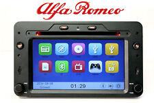 """ALFA 159 BRERA AUTORADIO GPS 6.2""""HD DVD USB SD MP3 MAPPE COMANDI VOLANTE 3G 4x50"""