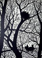 Orest Dubay - Der Landau und Die Nestchen - Gravur Auf Holz, 1959