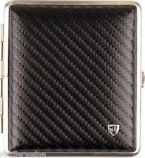 Vom Hofe Cigarette Case 18 King Size / Leather Carbon Look / Frame