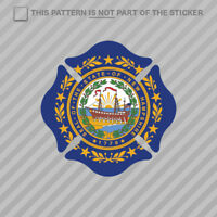 North Dakota State Shaped Maltese Cross Sticker Fire Firefighter Fireman 2x