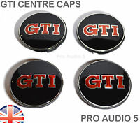 4 x GTI Wheel Centre Hub Caps 65mm - Fits GOLF PASSAT POLO SCIROCCIO GTI UK