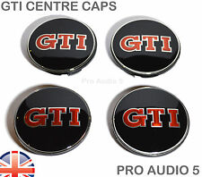 4 x gti wheel centre hub caps 65mm-fits vw golf passat polo sciroccio gti uk