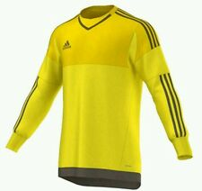 Adidas Top15 GK Goalkeeper Padded Jersey Men's Large Yellow Branch NEW $65