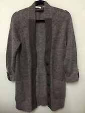 BNWOT Country Road Women's Grey Long Button-up Cardigan Size XS (mohair, nylon)
