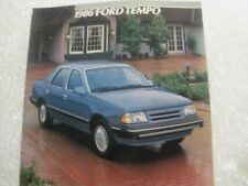 1986 Ford Tempo Sales Brochure - like new condition - 24 pages
