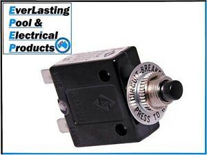 Panel Mount Thermal Circuit Breaker Various AMP's To Choose 250VAC 50VDC