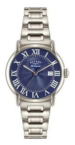 Rotary GB90140/05 Caviano Stainless Steel Case Blue Dial Mens Watch RRP £329