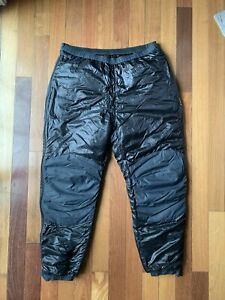 Rare Patagonia Full Zip Black Puffer Base Layer Insulated Pants XXL
