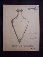 Association des amis de l'archéologie mosellane - Fiche d'information N° 4 1962