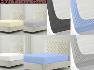 Fitted Sheet For Home Best 800 TC Pure Cotton Easy Fit Size And Color Available