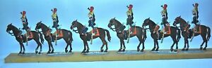 German or French Flats, Napoleonic Mounted Dragoons, Set of six