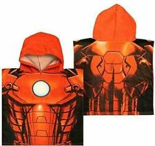 Iron Man Childrens Bath Poncho Official Marvel Character Hooded Towel