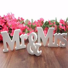 Mr and Mrs Wedding Wooden Sign Wood Letters Decor Decoration Table Top Standing