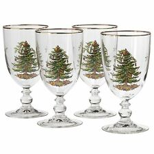 Spode Christmas Tree Goblet 16oz Set of 4