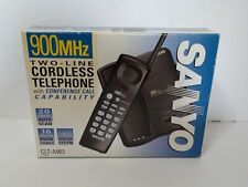 SANYO 900MHZ CLT-A902 Two Line Cordless Phone 20 Channel Autoscan