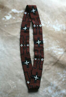 Western SW Vintage Style Stretch Beaded Hatband for Cowboy Rodeo  C