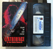 VHS: Leatherface: The Texas Chainsaw Massacre III 3: 1990