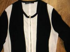 Sommerjacke schwarz weiß S  MARC CAIN  Mikrofaser Jacke Strickjacke Shirtjacke
