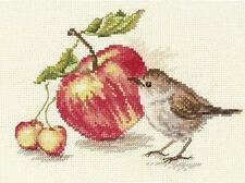 Alisa Counted Cross Stitch Kit - Bird with Apple