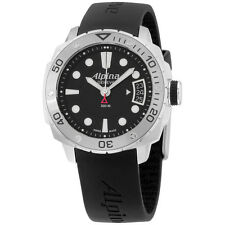 Alpina Adventure Diver Black Dial Black Silicone Strap Men's Watch AL240LB3V6