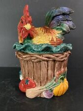 Fitz and Floyd Rooster/Hen Canister Classic Rare
