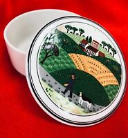 Villeroy & Boch NAIF Small Candy Box Hunter and Dog Design Jar with Lid