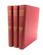 1898 Nations of the World 3 Volume Set book Hawthorne's US Green's England