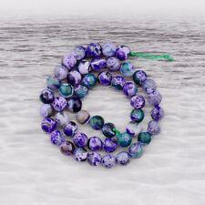 Natural Stone Sea Sediment Gemstone Round  Beads DIY Bracelets 15