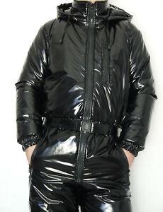 Glanznylon PVC shiny Skioverall Suit Schneeoverall 5 Farben XS-5XL 15 mm FÜLLUNG