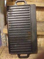 Vintage Cast Iron 2 Handle Griddle