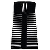 Ladies Black And White Stripy River Island Dress Uk Size 10 Women's Minidress