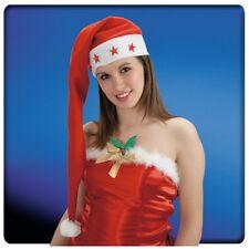 Bonnet de Noël super long étoiles clignotantes [5876] reveillon soirée costume