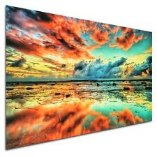 24x36'' Abstract Trippy Sunset-Sea Beach Silk Cloth Poster Home Wall Decoration