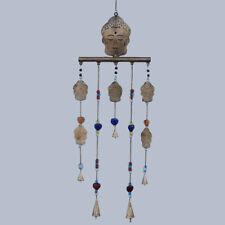 Buddha Wind Chime with Bar & Beads - Gorgeous Unique Hanging Decor 97cm 40261