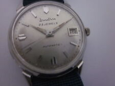 Vintage Automatic BULOVA watch,Unisex,1960,Stainless Steel,White Dial plate,Work