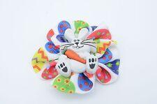 Custom Easter Print Flower Bow - Easter Hairbow-Easter Flower Clip, Easter Bunny