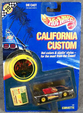 HOT WHEELS ~ CALIFORNIA CUSTOM ~ 1989 CORVETTE ~ CHROME BLUE