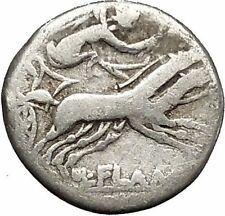 Roman Republic 109BC Gaul Victory in Chariot Roma Silver Coin of Rome i52451