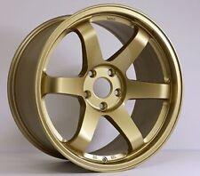 Rota Grid Wheels Gold 18x95 38 5x100 Subaru Wrx 02 14 Sti 04 Tc 04 10