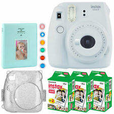 Fujifilm instax mini 9 Instant Film Camera (Smokey White) + Instax 60 + Case