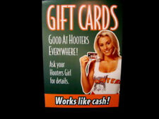 Hooters Girl in Uniform Mini Poster Gift Card Promo Table Sign Costume Extra